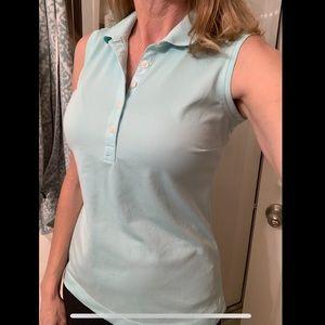 Nike Golf Dri-fit sleeveless golf polo sz M mint